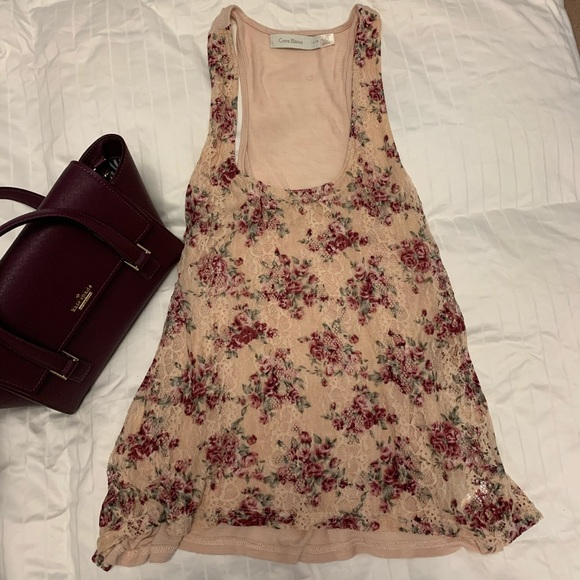 Costa Blanca Floral Lace Tank
